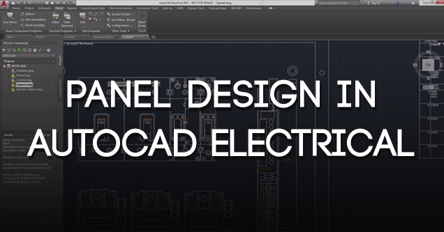 Panel Design in AutoCAD Electrical