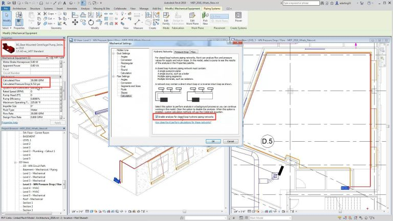 What's New in Revit 2018 - Hydronic System Capabilities