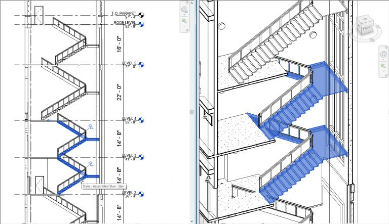 What's New in Revit 2018 - Multistory Stairs