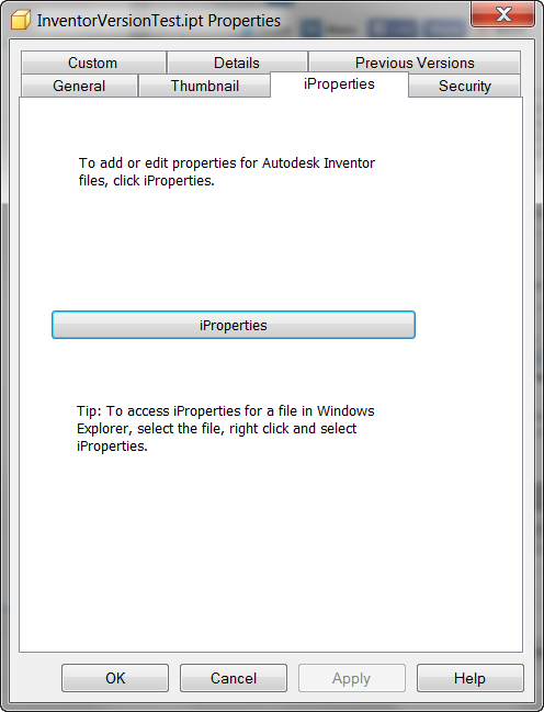 WindowsiPropertyTab